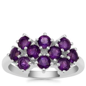 Zambian Amethyst Ring in Sterling Silver 1.65cts