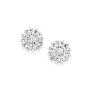 1ct Diamond Sterling Silver Earrings