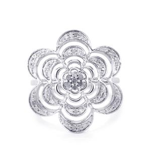 Diamond Ring in Sterling Silver 0.25ct
