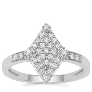 Canadian Diamond Ring in 9K White Gold 0.34ct