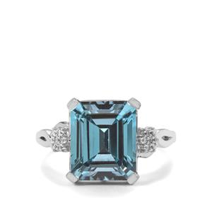 Versailles Topaz Ring with White Topaz in Sterling Silver 7.55cts