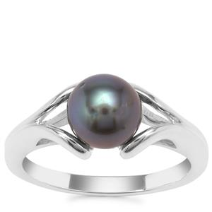 Tahitian Cultured Pearl Ring in Sterling Silver (7mm)