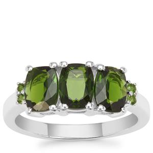 Chrome Diopside Ring in Sterling Silver 2.71cts