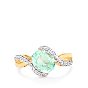 Colombian Emerald Ring with Diamond in 18K Gold 2.30cts