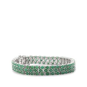 18.96ct Carnaiba Brazilian Emerald Sterling Silver Bracelet