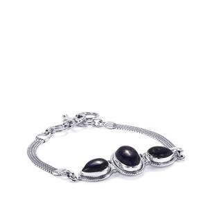 Sar-i-Sang Lapis Lazuli Bracelet in Sterling Silver 14cts