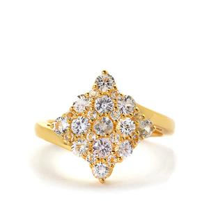 Sri Lankan Sapphire & White Topaz Ring ATGW 1.64cts