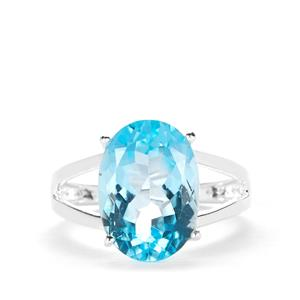 Sky Blue Topaz Ring in Sterling Silver 7.08cts