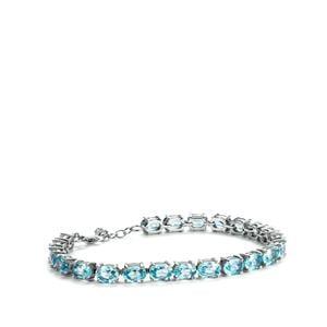 Ratanakiri Blue Zircon Bracelet in Sterling Silver 27.81cts