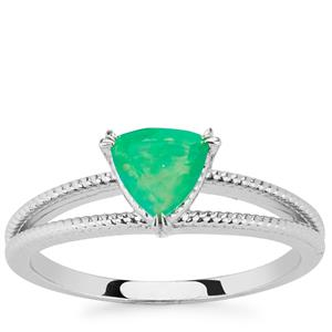 Ethiopian Green Opal Ring in Sterling Silver 0.45cts