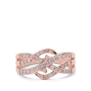 1/2ct Pink Diamond 9K Rose Gold Tomas Rae Ring