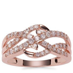 Pink Diamond Ring in 9K Rose Gold 0.52cts