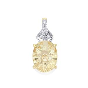 Lehrer QuasarCut Serenite Pendant with Diamond in 9K Gold 1.46cts