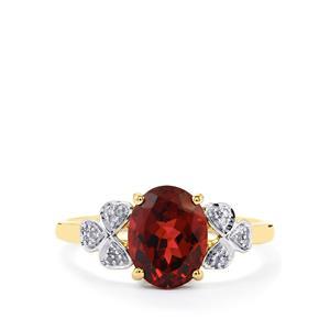 Umbalite & Diamond 9K Gold Ring ATGW 2.62cts