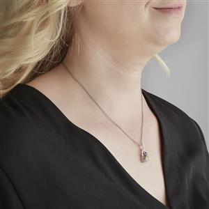 Harlequin Gems Pendant in 10K White Gold 1.36ct