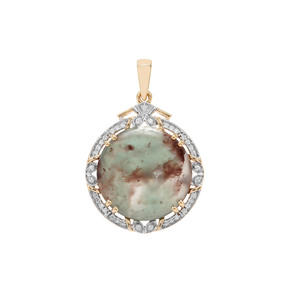 Aquaprase™ Pendant with Diamond in 18K Gold 12.11cts