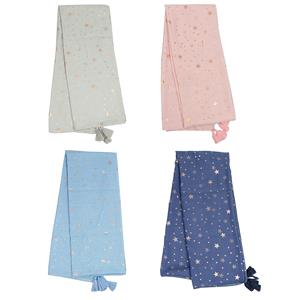 100% Polyester Destello Second Star to the Right Scarf (Choice of 4 Colors)