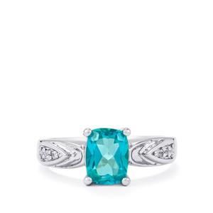 Batalha Topaz Ring with Ceylon White Sapphire in Sterling Silver 1.76cts