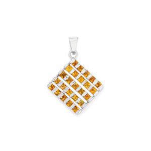 2.93ct Songea Yellow Sapphire Sterling Silver Pendant