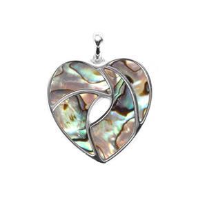 Paua Sterling Silver Pendant