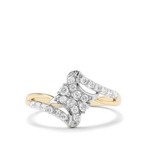 Argyle Diamond Ring in 9K Gold 0.37ct