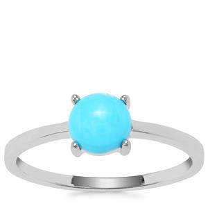Sleeping Beauty Turquoise Ring in Sterling Silver 0.79ct