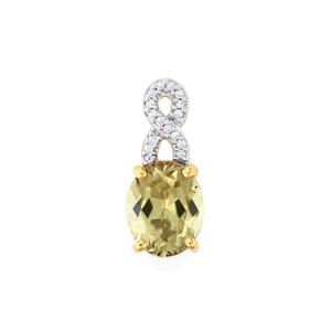 Csarite® Pendant with Diamond in 18k Gold 2.83cts