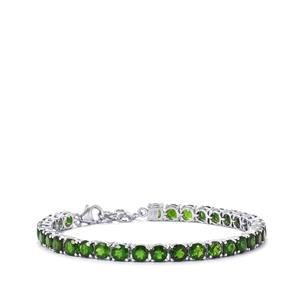 Chrome Diopside Bracelet in Sterling Silver 17.57cts