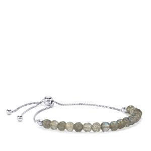 10.50ct Labradorite Sterling Silver Slider Bead Bracelet