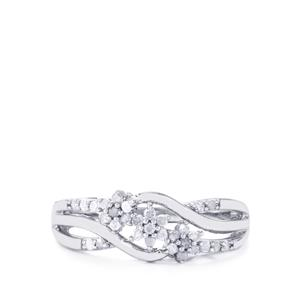 Diamond Ring in Sterling Silver 0.26ct