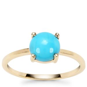 Sleeping Beauty Turquoise Ring in 9K Gold 1.13cts