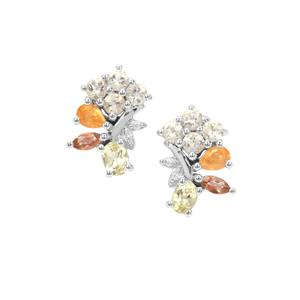 1.51ct Sunrise Sterling Silver Shades Earrings