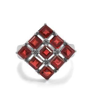 4.07ct Octavian Garnet Sterling Silver Ring