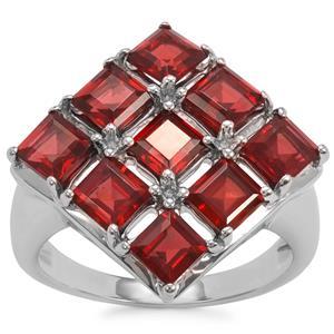 Octavian Garnet Ring in Sterling Silver 4.07cts