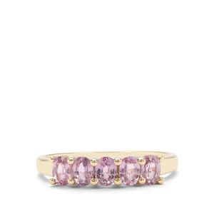 1.17ct Sakaraha Pink Sapphire 9K Gold Ring