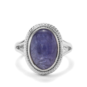7.80ct Tanzanite Sterling Silver Aryonna Ring
