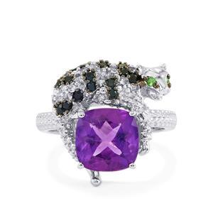 3.61ct Kaleidoscope Gemstones Sterling Silver Ring