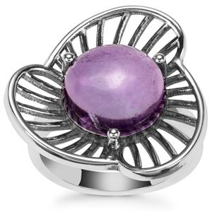 Kenyan Amethyst Ring in Sterling Silver 5.06cts