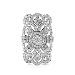 5.05ct Diamond Sterling Silver Ring