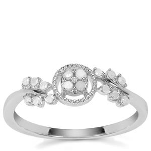 Diamond Ring in Sterling Silver 0.16ct