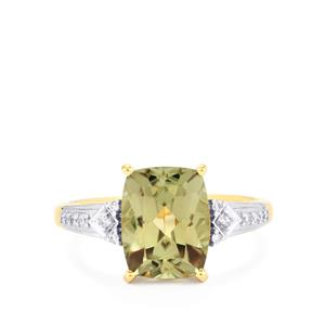 Csarite® Ring with Diamond in 18k Gold 3.79cts