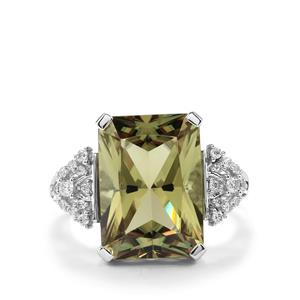 Csarite® Ring with Diamond in 18K White Gold 8.31cts