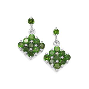 Chrome Diopside Earrings in Sterling Silver 2.59cts