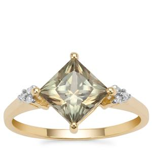 Csarite® Ring with Diamond in 9K Gold 2cts