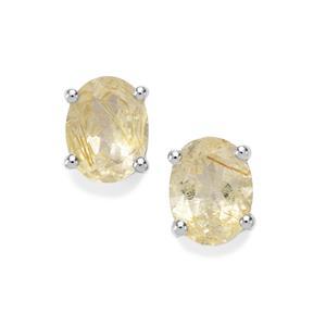 3.22ct Bahia Rutilite Sterling Silver Earrings