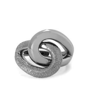 Viorelli Stardust Black Rhodium Plated Sterling Silver Ring