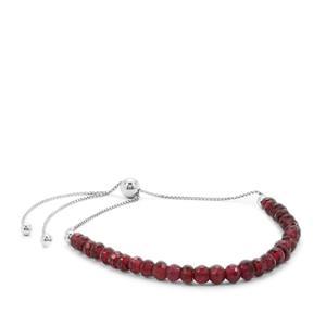 Rajasthan Garnet Slider Bracelet in Sterling Silver 16cts