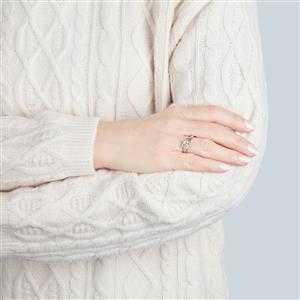 Champagne Diamond Ring in 10k White Gold 0.50ct