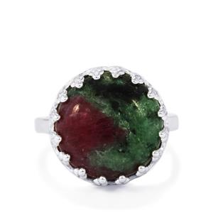 Ruby-Zoisite Ring in Sterling Silver 12.91cts