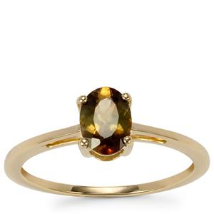 Sopa Andalusite Ring in 9K Gold 0.77cts